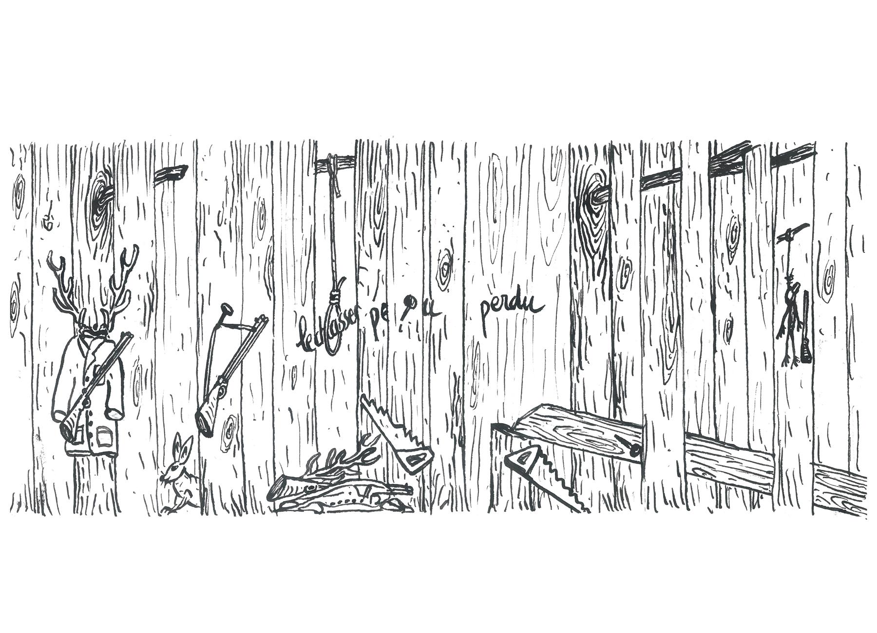 journal de bois dessiné